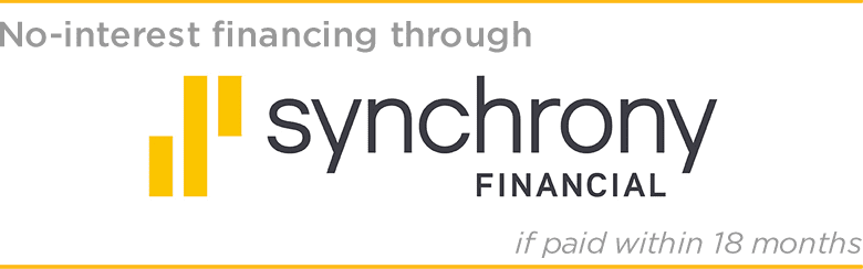 no-interest financing through Synchrony Financial