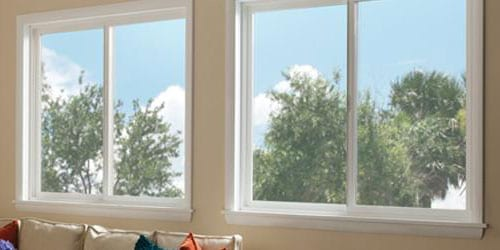 Horizontal Sliding Windows Are A Type Of Window Where The Sashes Byp Each Other By On Track Some Models Allow Both To Slide