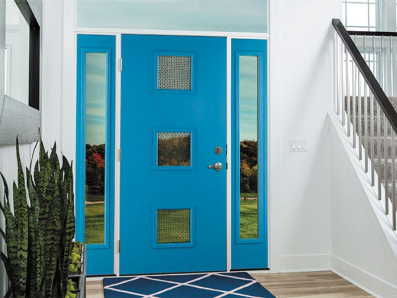 PrismaGuard BLUE Paint Quality Entry Doors From BlackBerry