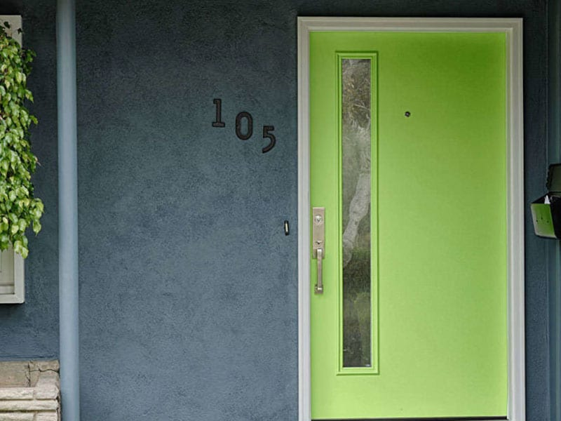 Bright Green Entry Door