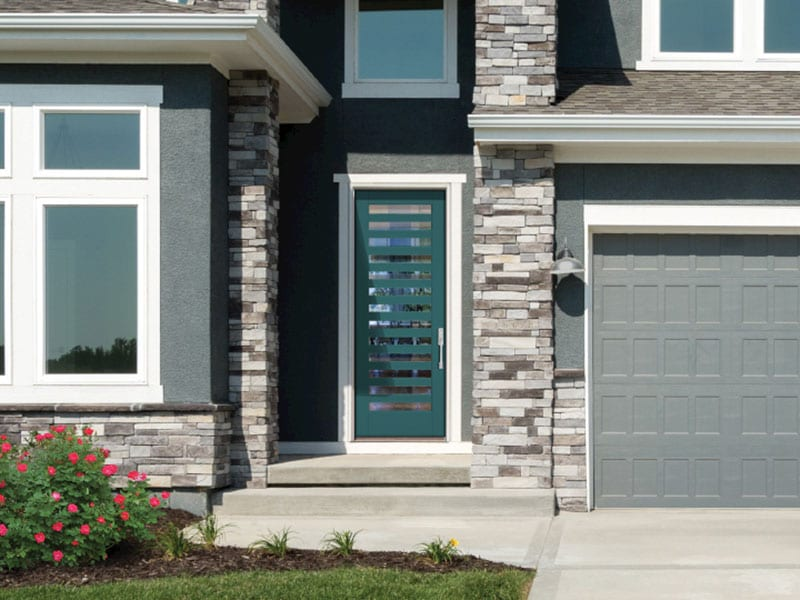 Exterior Glass Patterned Entry Doors From BlackBerry