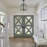 Homburg Gray Surround Entry Door