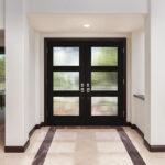 Geometric and Raven Entry Door