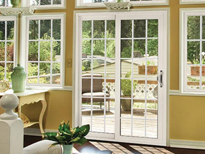 Yellow Home with Vinyl Patio Sliding Doors