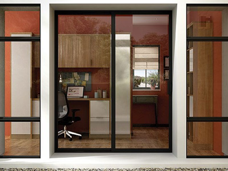 Vinyl Patio Sliding Doors Showing Entry Into Home
