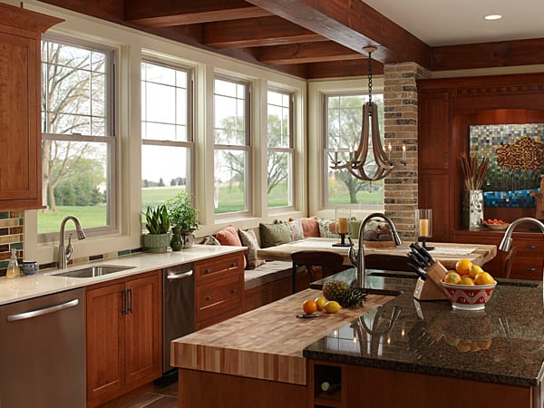 Milgard Tuscany® Series high quality vinyl windows. Made for replacement window projects or home remodels