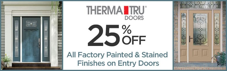 THERMATRU Door Brand - SAVE BIG - All Factory Painted and Stained Finishes on Entry Doors by BlackBerry
