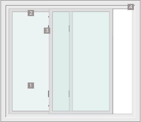 Energy-Efficient Replacement Patio Door Diagram