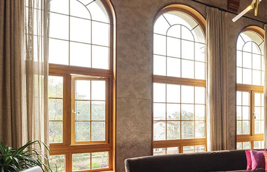 Wood Clad Casement/Awning Windows | Clean, contemporary look and feel with exterior clad in aluminum for a variety of color options.