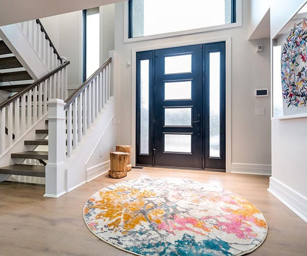 Interior View of Entry Door - Let Your Home Make a Statement with a Beautiful Entry System | Quality Entry Doors From BlackBerry