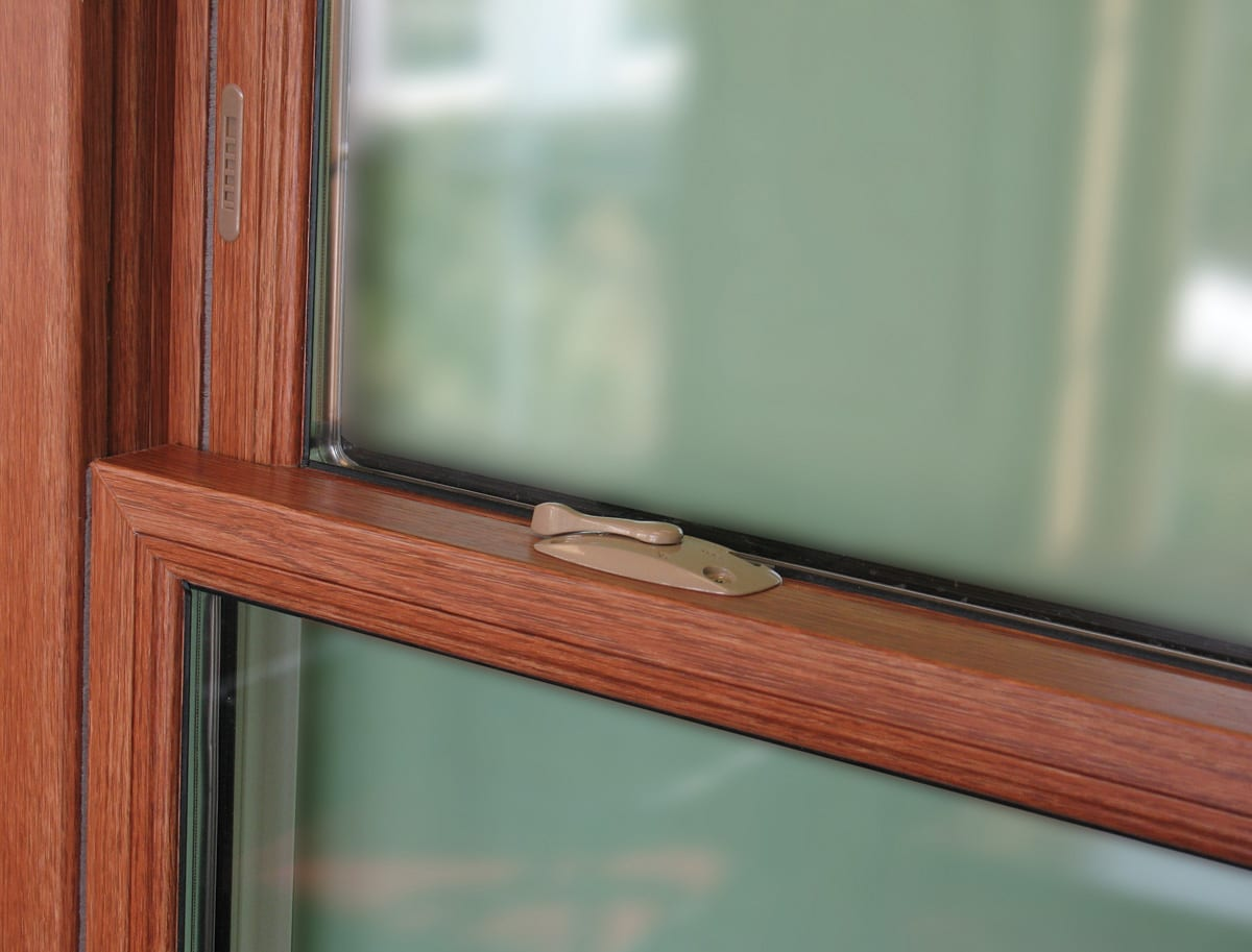 A variety of double hung window hardware styles/trims in many finish options to match any home