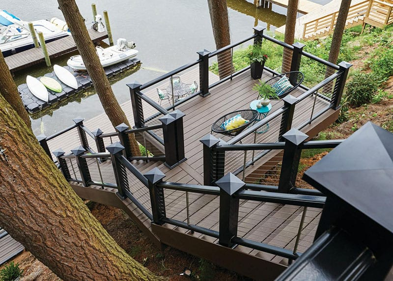 Premium capped polymer decking, made without wood!