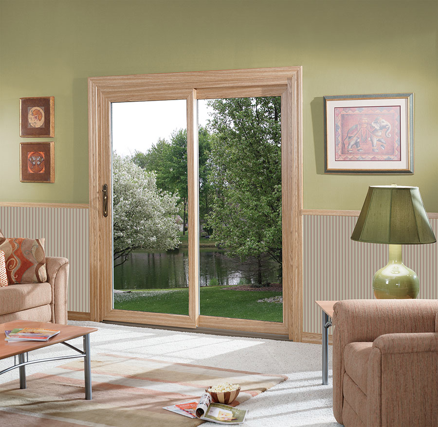 Vinyl patio doors deliver affordable, modern style and illuminate the home with natural light